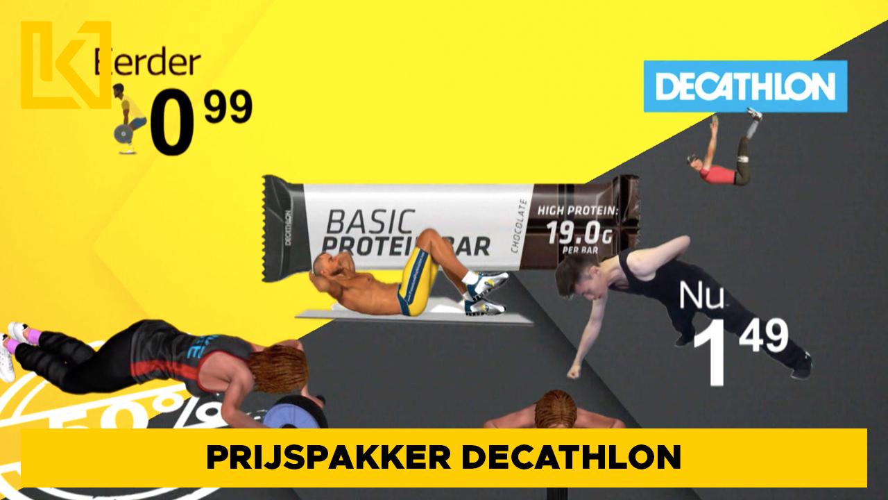 Prijspakker: Basic Proteïnerepen van Decathlon