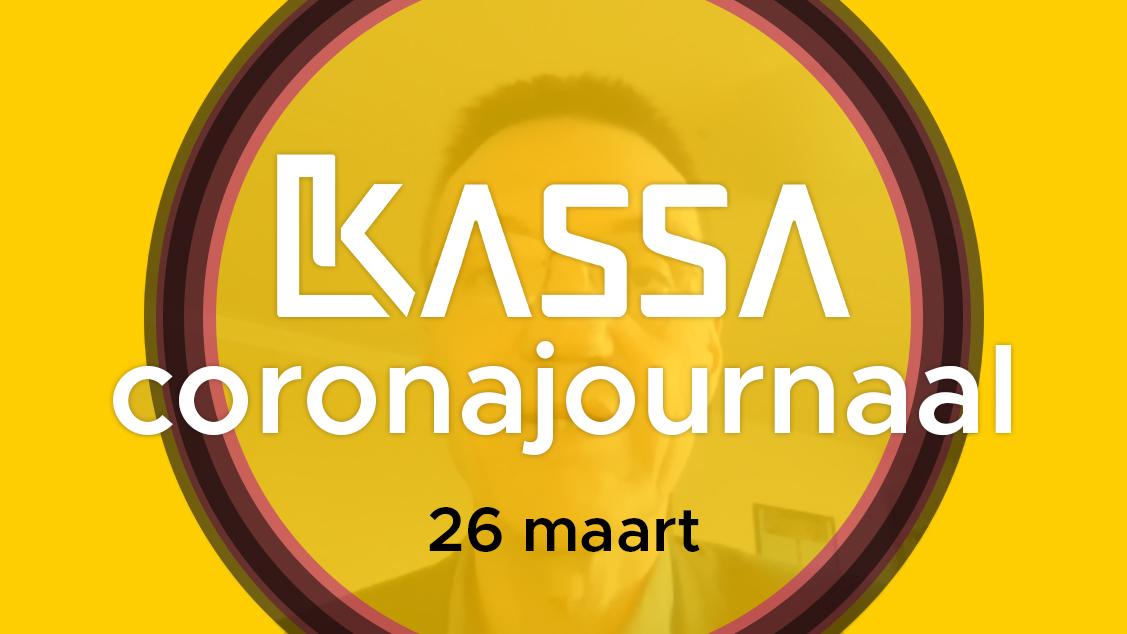 Afbeelding van Kassa Coronajournaal | 26 maart