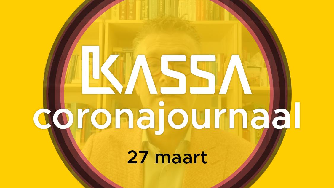 Afbeelding van Kassa Coronajournaal | 27 maart