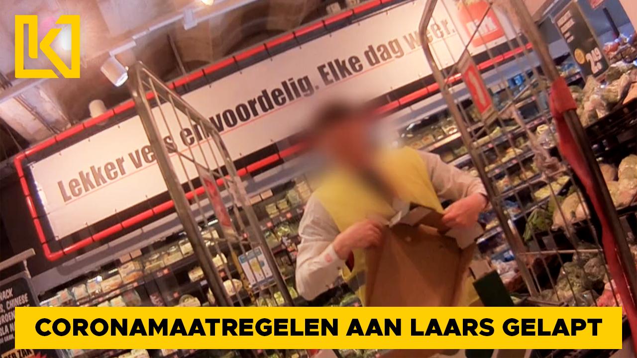 Coronamaatregelen in supermarkt aan de laars gelapt