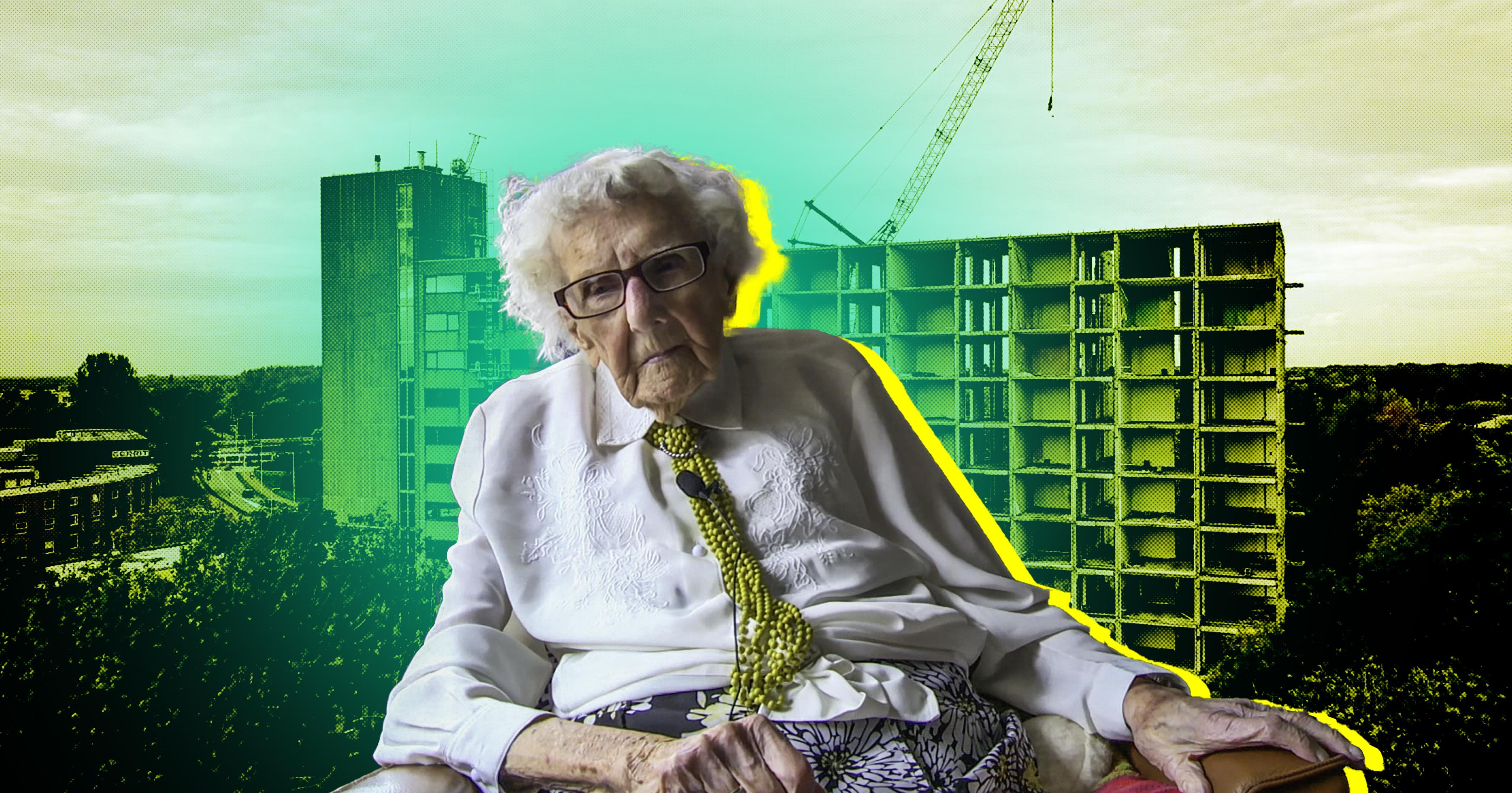 Afbeelding van 102-jarige mevrouw Piël ondanks verzet verhuisd