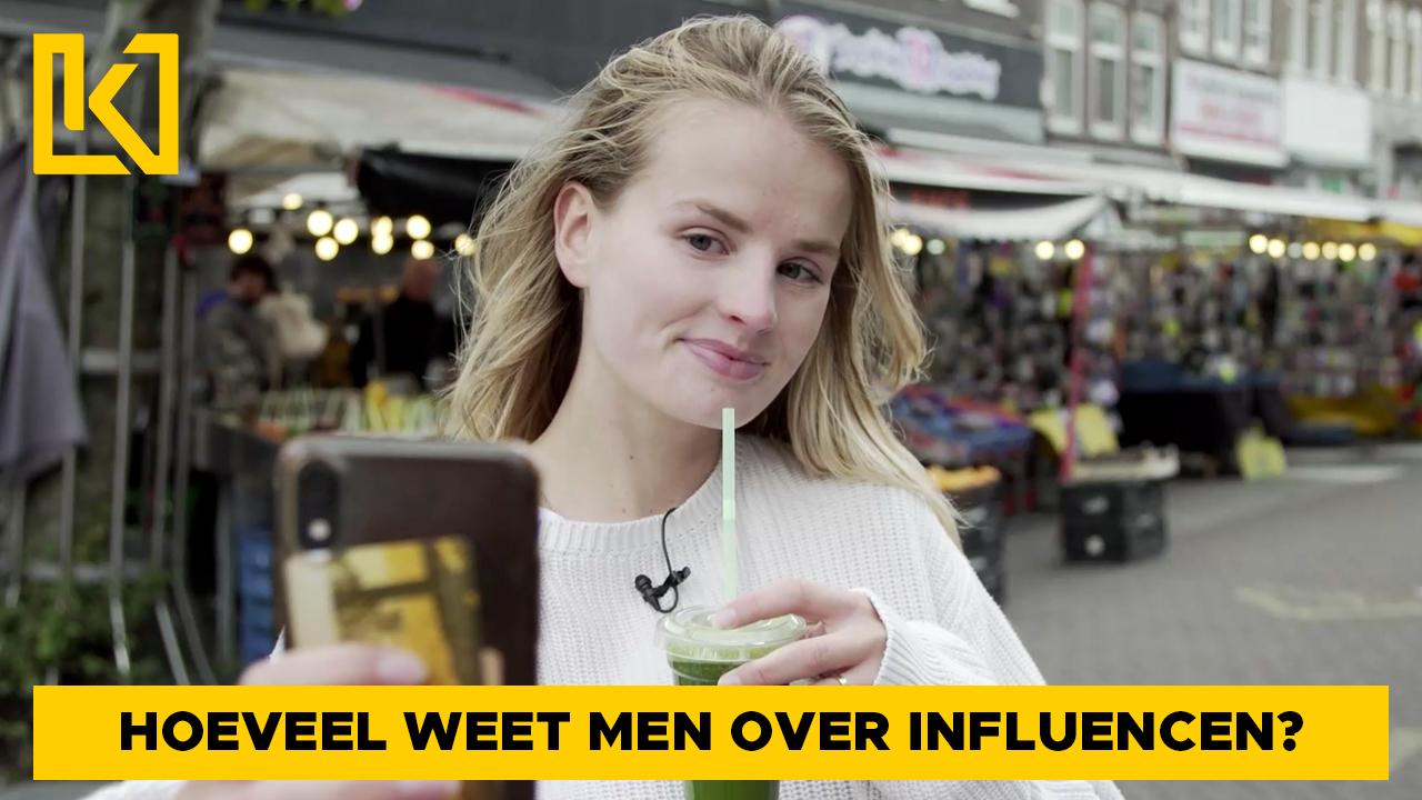 Afbeelding van Eva peilt de kennis over influencers op straat