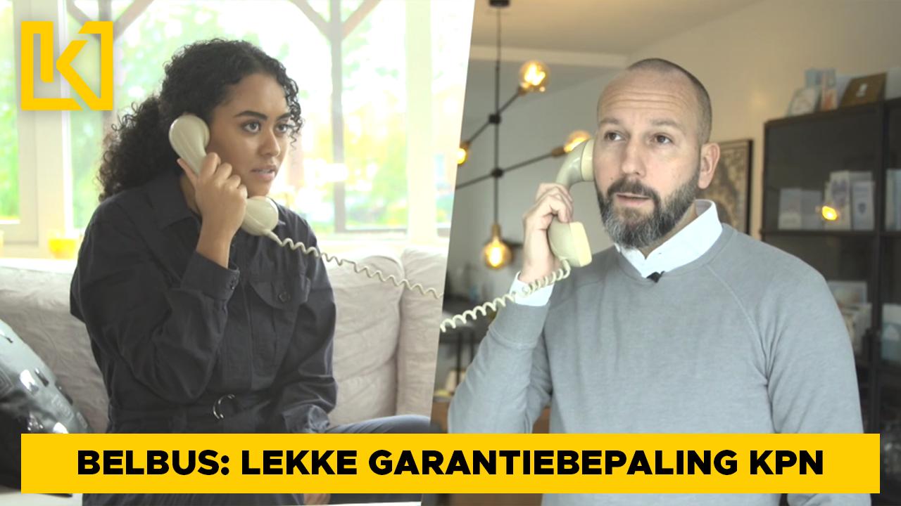Afbeelding van Belbus: De lekke garantievoorwaarden van KPN