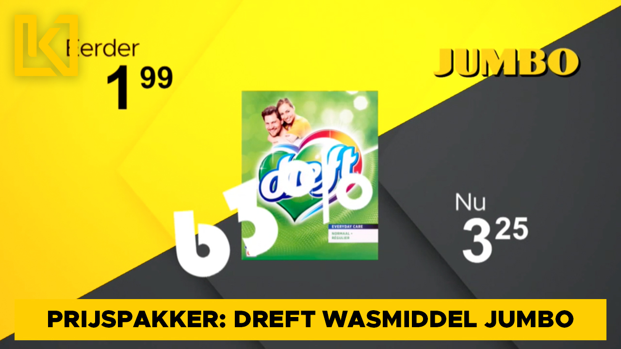 Afbeelding van Prijspakker: Dreft waspoeder bij de Jumbo