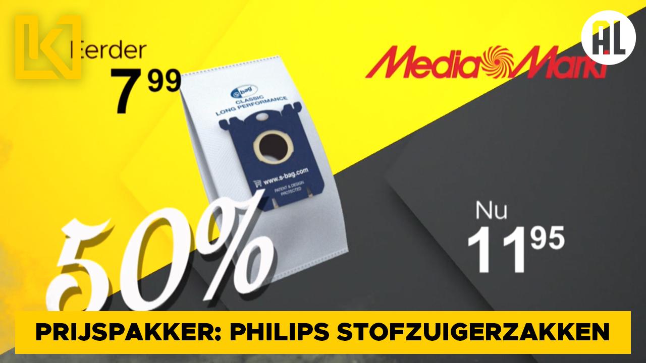 Afbeelding van Prijspakker: Philips stofzuigerzakken bij MediaMarkt