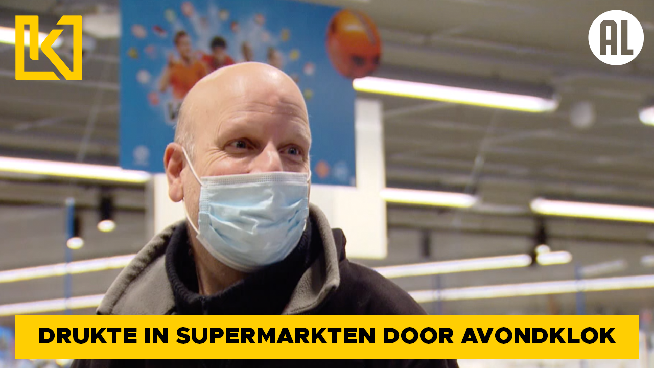 Afbeelding van Supermarkten verwachten drukte door avondklok