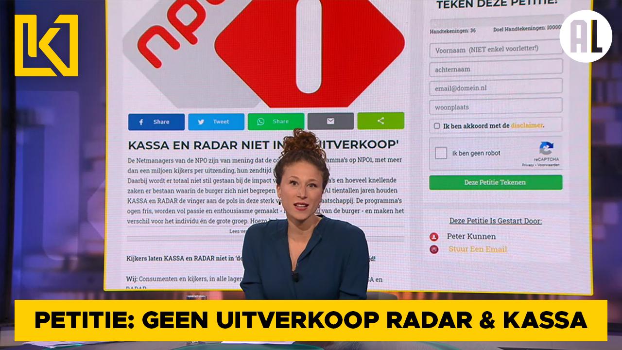 Afbeelding van Petitie tegen  'uitverkoop Radar en Kassa'